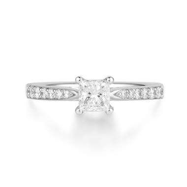 Platinum Princess Cut 0.75ct Diamond Ring thumbnail