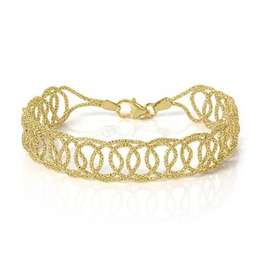 18ct Yellow Gold Filigree Bracelet