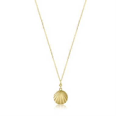 18ct Yellow Gold Shell Design Necklace thumbnail