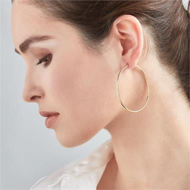 18ct Yellow Gold Hoop Earrings 55mm thumbnail