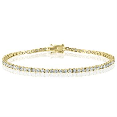 18ct Yellow Gold Diamond Tennis Bracelet 2.74ct thumbnail