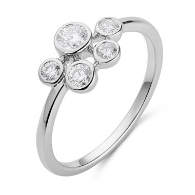 Alchemy 18ct White Gold 0.36ct Diamond Ring thumbnail