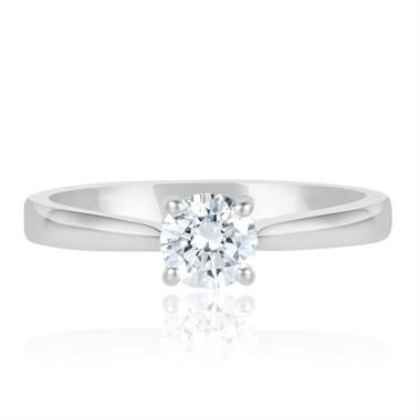Platinum Diamond Solitaire Engagement Ring 0.60ct thumbnail