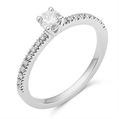 Platinum Diamond Solitaire Ring thumbnail