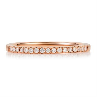 18ct Rose Gold Diamond Band thumbnail