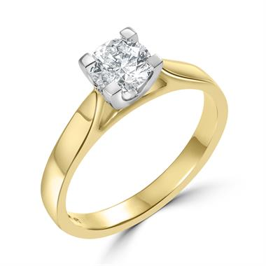 18ct Yellow Gold Diamond Solitaire Engagement Ring 0.70ct thumbnail