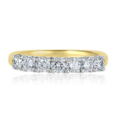 18ct Yellow Gold Diamond Seven Stone Eternity Ring 0.70ct thumbnail