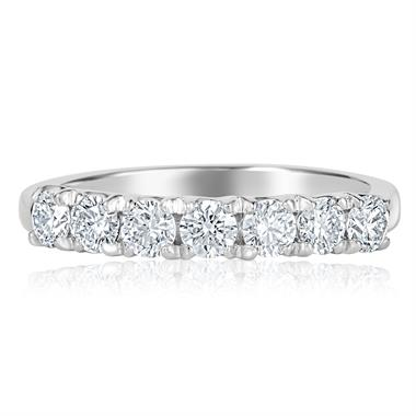 Platinum Diamond Seven Stone Eternity Ring 0.70ct thumbnail