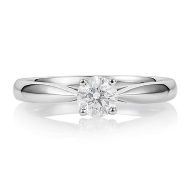Platinum Classic Brilliant Cut 0.40ct Diamond Solitaire Ring thumbnail