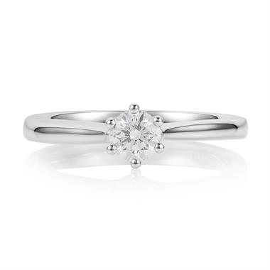 Platinum Six Claw 0.35ct Diamond Ring thumbnail