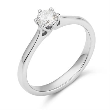Platinum Six Claw Design Diamond Solitaire Engagement Ring 0.35ct thumbnail