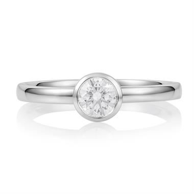 Platinum Rubover 0.40ct Solitaire Ring thumbnail