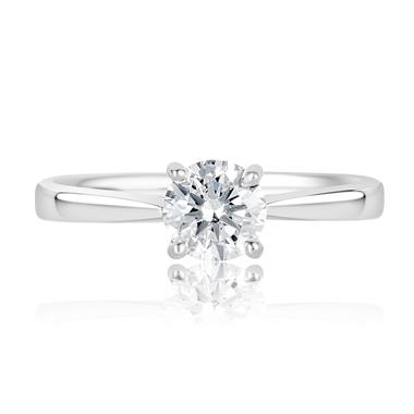 Platinum Elegant 1.00ct Diamond Solitaire Ring thumbnail