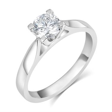 Platinum Diamond Solitaire Engagement Ring 0.70ct thumbnail