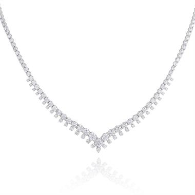 18ct White Gold Diamond Necklace 4.92ct thumbnail