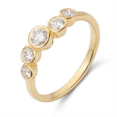 Alchemy 18ct Yellow Gold Graduated Diamond Dress Ring 0.60ct thumbnail