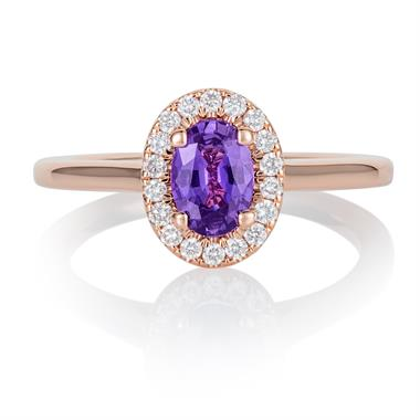 18ct Rose Gold Violet Sapphire Ring thumbnail