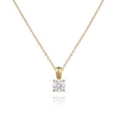18ct Yellow Gold Classic Design Diamond Solitaire Pendant 0.50ct  thumbnail