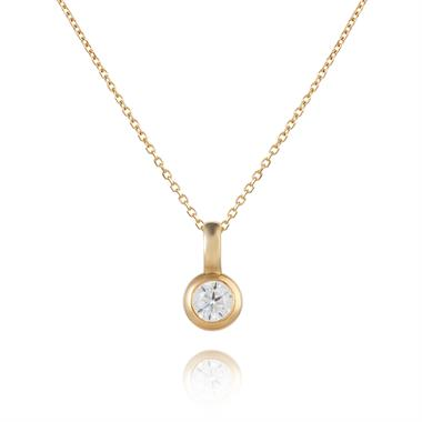 18ct Yellow Gold Diamond Solitaire Pendant 0.16ct thumbnail