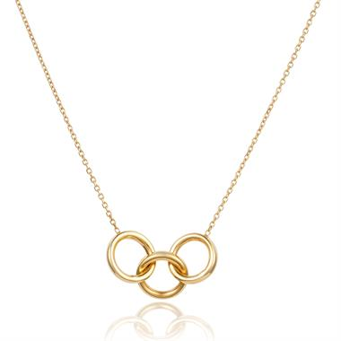 Union 18ct Yellow Gold Three Circles Necklace thumbnail