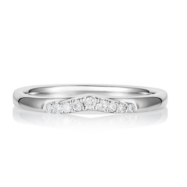 Platinum V-Shape Diamond Ring thumbnail