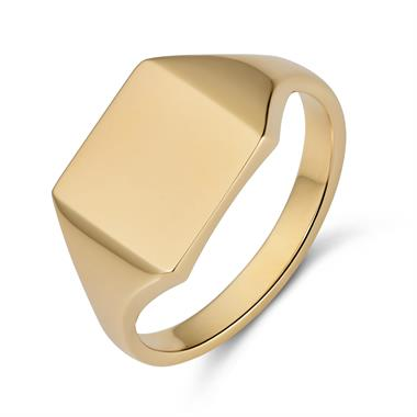 9ct Yellow Gold Square Shape Signet Ring thumbnail
