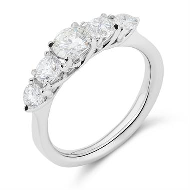 Platinum Graduated 1.25ct Diamond Ring thumbnail