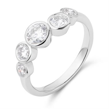 Alchemy 18ct White Gold Diamond Dress Ring 1.00ct thumbnail