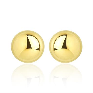 18ct Yellow Gold Ball Stud Earrings 6mm thumbnail