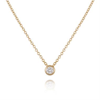 18ct Yellow Gold 0.15ct Diamond Solitaire Necklace thumbnail