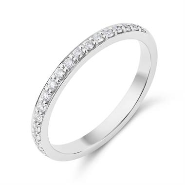 Platinum Delicate 0.20ct Diamond Half Channel Ring thumbnail