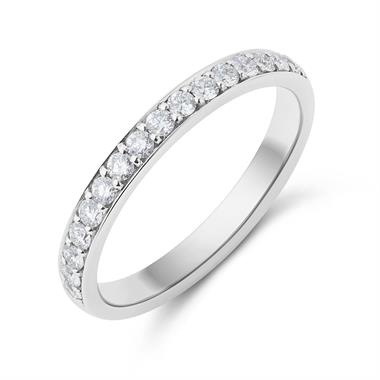 Platinum Brilliant Cut Diamond Half Channel Ring thumbnail