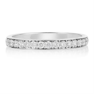 Platinum Brilliant Cut Pave Set Diamond Ring thumbnail