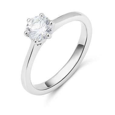 Platinum Six Claw Design Diamond Solitaire Engagement Ring 0.70ct thumbnail