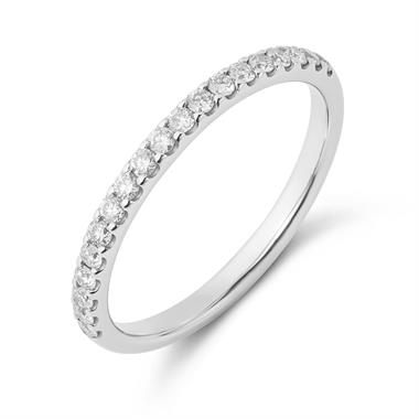 Platinum Diamond Half Eternity Ring 0.23ct thumbnail