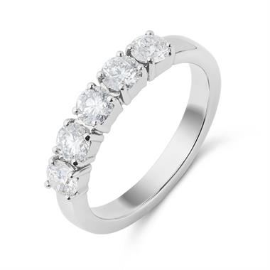Platinum Five Stone 0.80ct Diamond Ring thumbnail