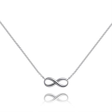 Infinity 18ct White Gold Necklace thumbnail