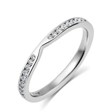 Platinum Diamond Set Wedding Ring 0.25ct thumbnail