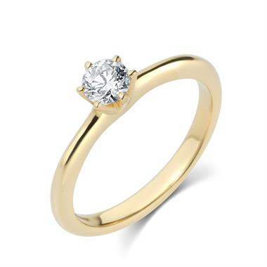 18ct Yellow Gold 0.30ct Diamond Solitaire Ring thumbnail