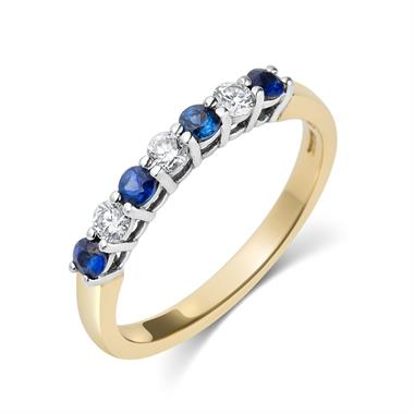 18ct Yellow Gold Sapphire and Diamond Ring thumbnail