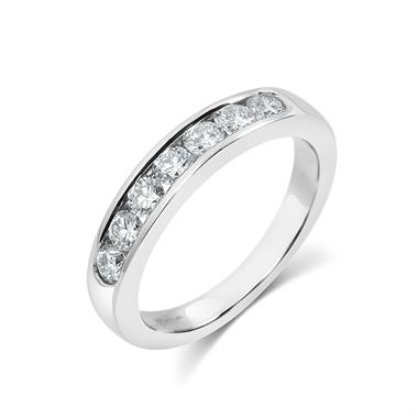 Platinum Diamond Half Eternity Ring 0.60ct thumbnail