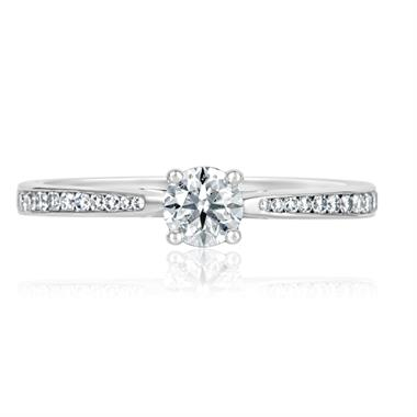 Platinum Tapered Shoulders Diamond Ring thumbnail
