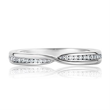 Platinum Diamond Set Wedding Ring 0.15ct thumbnail