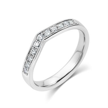 Platinum Wishbone Style Diamond Ring thumbnail