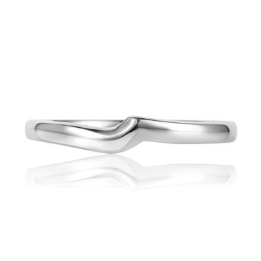 Platinum Plain Shaped Ring thumbnail