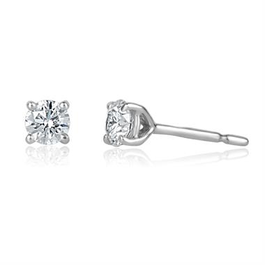 18ct White Gold 0.50ct Diamond Earrings thumbnail
