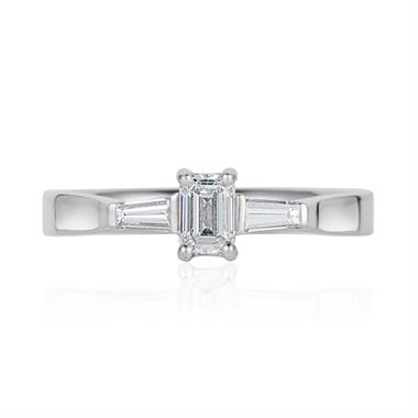 Platinum Emerald Cut Diamond Ring thumbnail