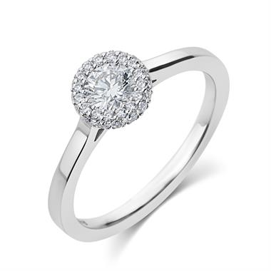 Platinum Diamond Halo Ring thumbnail