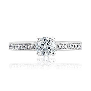 Platinum Solitaire Diamond Ring thumbnail