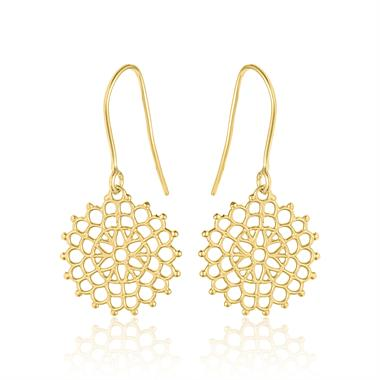 Element 18ct Yellow Gold Drop Earrings thumbnail